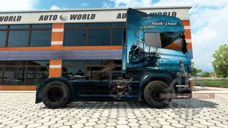 La Perle noire de la peau pour Scania camion pour Euro Truck Simulator 2