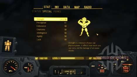Le nombre maximum de S. P. E. C. I. A. L. pour Fallout 4