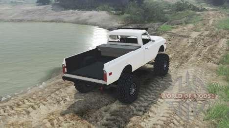 Chevrolet C10 Cheyenne 1972 [white] pour Spin Tires