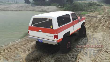 Chevrolet K5 Blazer 1975 [orange and white] pour Spin Tires