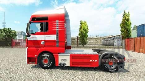 La peau de Max Goll sur le camion de l'HOMME pour Euro Truck Simulator 2