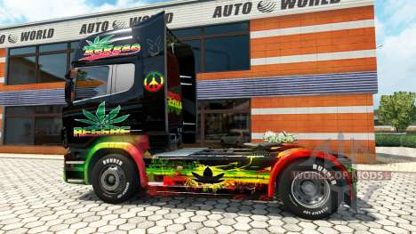 Reggae de la peau pour Scania camion pour Euro Truck Simulator 2