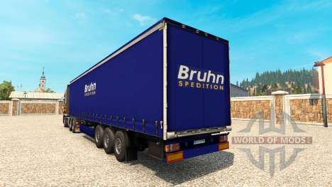 Haut Bruhn auf dem Anhänger für Euro Truck Simulator 2