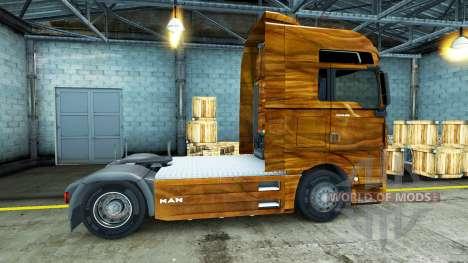 Haut Olivenholz auf dem LKW MAN für Euro Truck Simulator 2