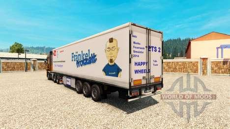 Die Haut ist Harald Frankel auf dem Anhänger für Euro Truck Simulator 2