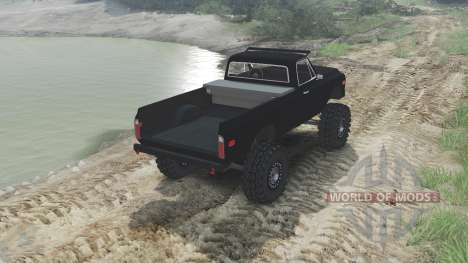 Chevrolet C10 Cheyenne 1972 [black] pour Spin Tires