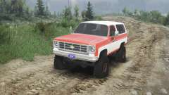 Chevrolet K5 Blazer 1975 [orange and white]