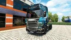 La Perle noire de la peau pour Scania camion
