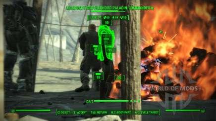 La précision dans le V. A. T. S. pour Fallout 4
