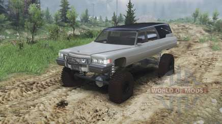 Cadillac Hearse 1975 [monster] [gray] pour Spin Tires