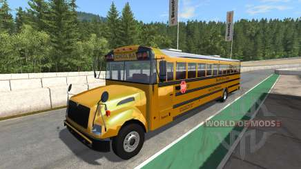 Blue Bird American School Bus v2.1 für BeamNG Drive