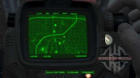 Immersive Map 4k - BLUEPRINT - Full Squares pour Fallout 4