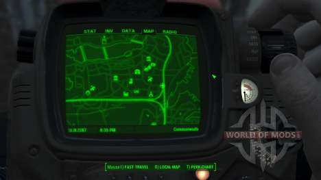Immersive Map 4k - BLUEPRINT Inv. - No Squares für Fallout 4