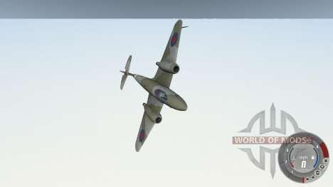 Gloster Meteor Mk. III Alpha für BeamNG Drive