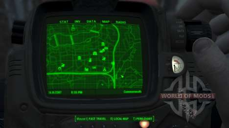 Immersive Map 4k - BLUEPRINT Inv. - Full Squares für Fallout 4