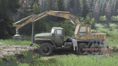 Ural-4320 mit neuen Lader [08.11.15] für Spin Tires