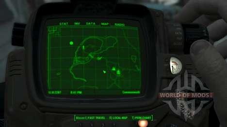 Immersive Map 4k - BLUEPRINT Inv. - Big Squares für Fallout 4