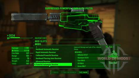 Overpowered Weapon mods für Fallout 4
