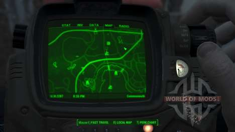 Immersive Map 4k - BLUEPRINT Inv. - No Squares für Fallout 4