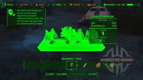 Working Food Planters für Fallout 4