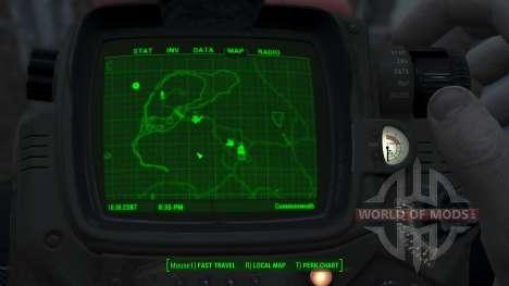 Immersive Map 4k - BLUEPRINT Inv. - Full Squares für Fallout 4