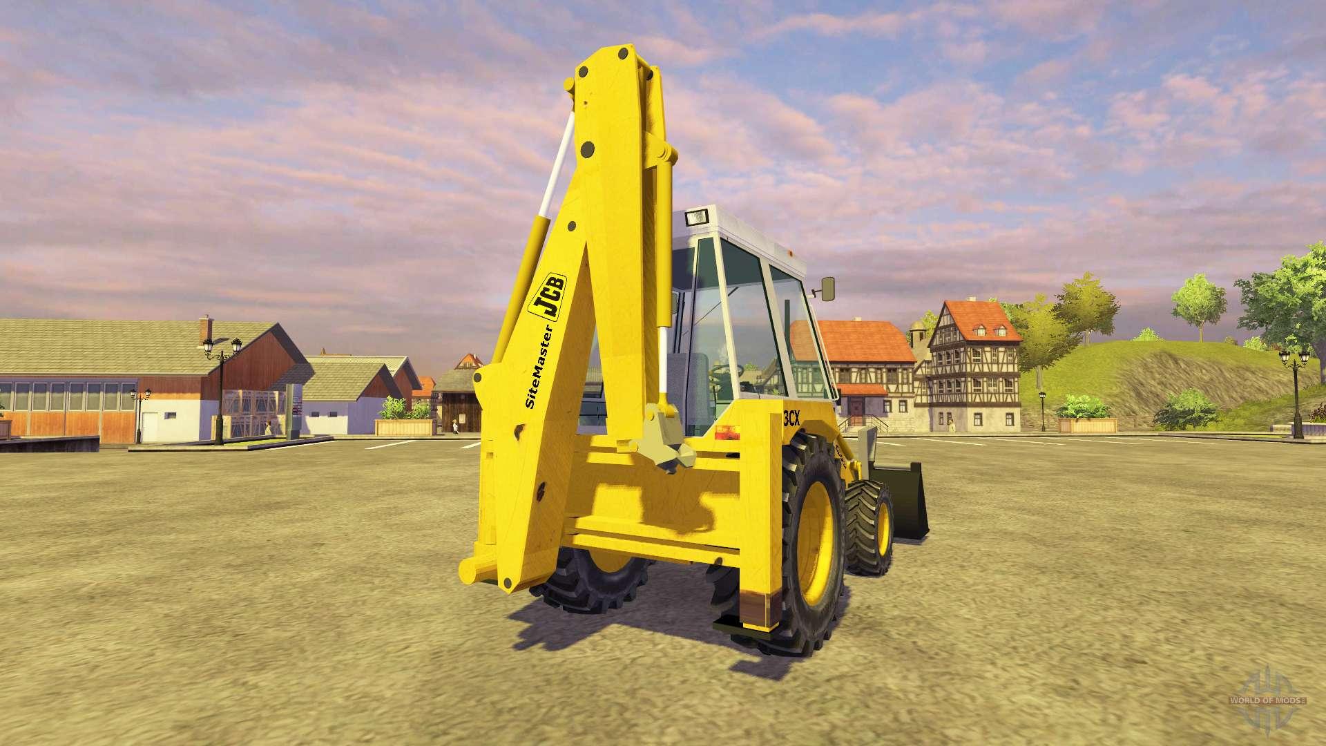 Jcb 3cx v2 1 pour farming simulator 2013 - Pelleteuse simulator gratuit ...