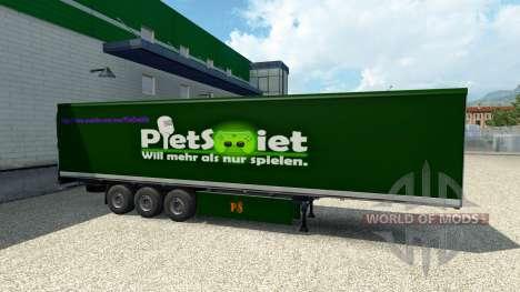 PietSmiet Haut auf den trailer für Euro Truck Simulator 2