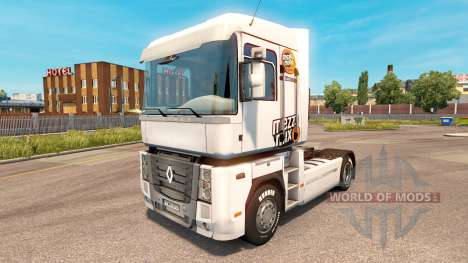 Mezzo Mix de la peau sur le tracteur Renualt pour Euro Truck Simulator 2