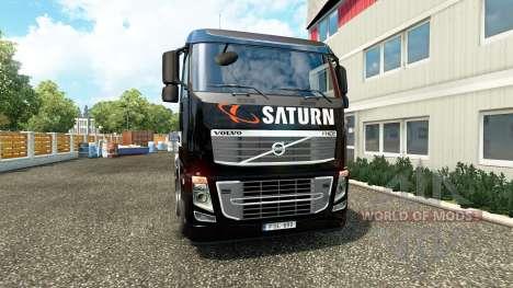 Saturne peau sur camion Volvo pour Euro Truck Simulator 2