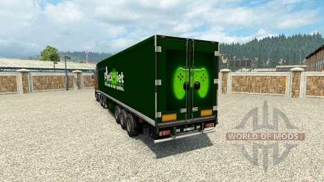PietSmiet de la peau sur la remorque pour Euro Truck Simulator 2