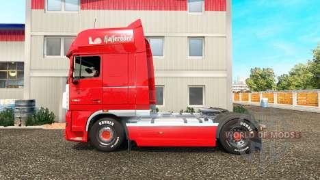 La peau sur le Hasseroeder camion DAF pour Euro Truck Simulator 2