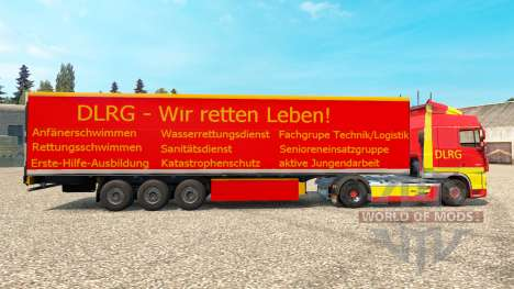 DLRG skin for DAF truck pour Euro Truck Simulator 2