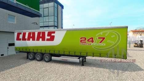 De la peau pour CLAAS remorque pour Euro Truck Simulator 2