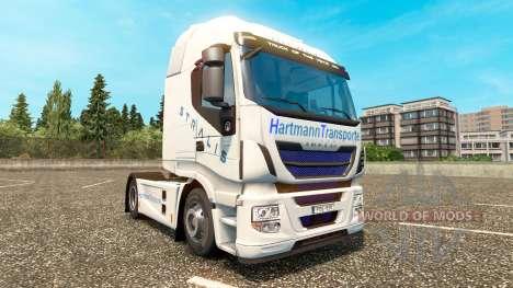 Hartmann Transporte Haut für Iveco Sattelzugmasc für Euro Truck Simulator 2