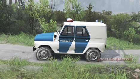UAZ-31519 de la Police [08.11.15] pour Spin Tires