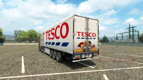 Tesco de la peau sur la remorque pour Euro Truck Simulator 2
