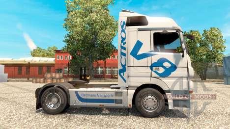 Hartmann Transporte Haut für LKW Mercedes-Benz für Euro Truck Simulator 2