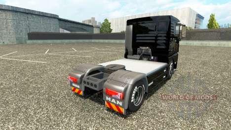 La peau sur le V8 camion MAN v2.0 pour Euro Truck Simulator 2