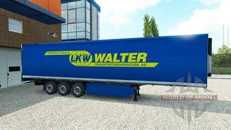Haut Walter auf dem Anhänger für Euro Truck Simulator 2