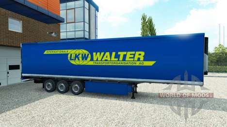 La peau de Walter sur la remorque pour Euro Truck Simulator 2