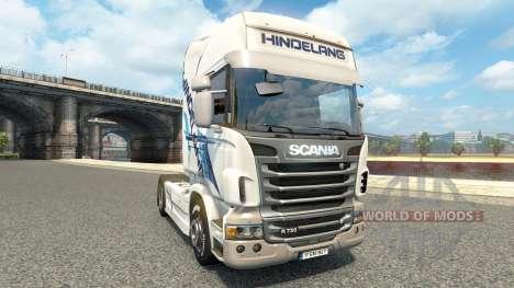 Hindelang de la peau pour Scania camion pour Euro Truck Simulator 2