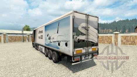 La peau de l'A380 sur la remorque pour Euro Truck Simulator 2