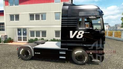 V8 de la peau pour l'HOMME camions pour Euro Truck Simulator 2