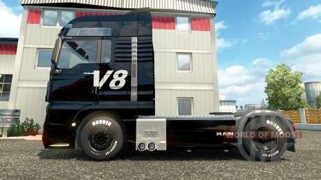 V8 skin für MAN LKW für Euro Truck Simulator 2