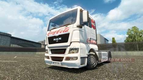 La peau de Coca-Cola sur le camion de l'HOMME pour Euro Truck Simulator 2