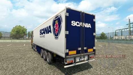 La peau semi-remorque Scania pour Euro Truck Simulator 2
