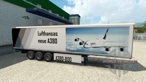 Haut A380 auf dem Anhänger für Euro Truck Simulator 2