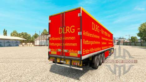 DLRG skin for DAF truck pour Euro Truck Simulator 2