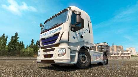 Hartmann Transporte de la peau pour Iveco tracte pour Euro Truck Simulator 2