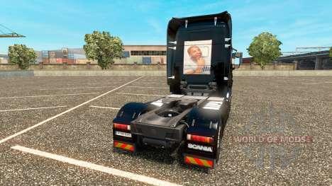 The fast and The furious 6 skin für Scania LKW für Euro Truck Simulator 2